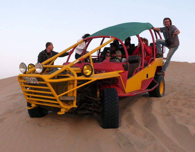 The Ica Dunes in the heights of Huacachina